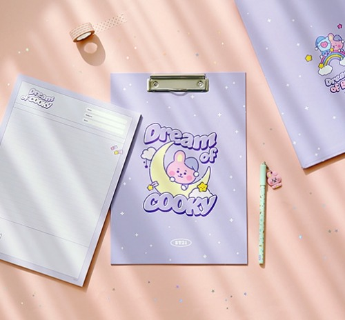 [BT21 BABY] Clipboard & Notedpad Set Dream [A4] (MP) Koreapopstore.com